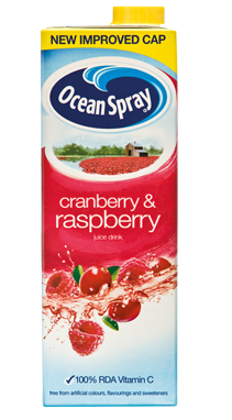 ocean spray cranberry and raspberry juice drink