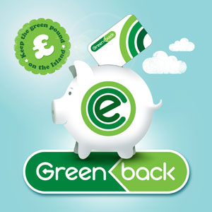 Greenback piggy sticker