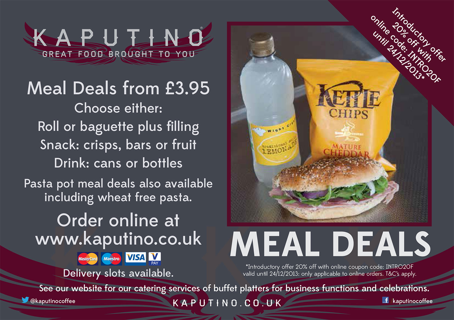 Isle of Wight lunches from Kaputino