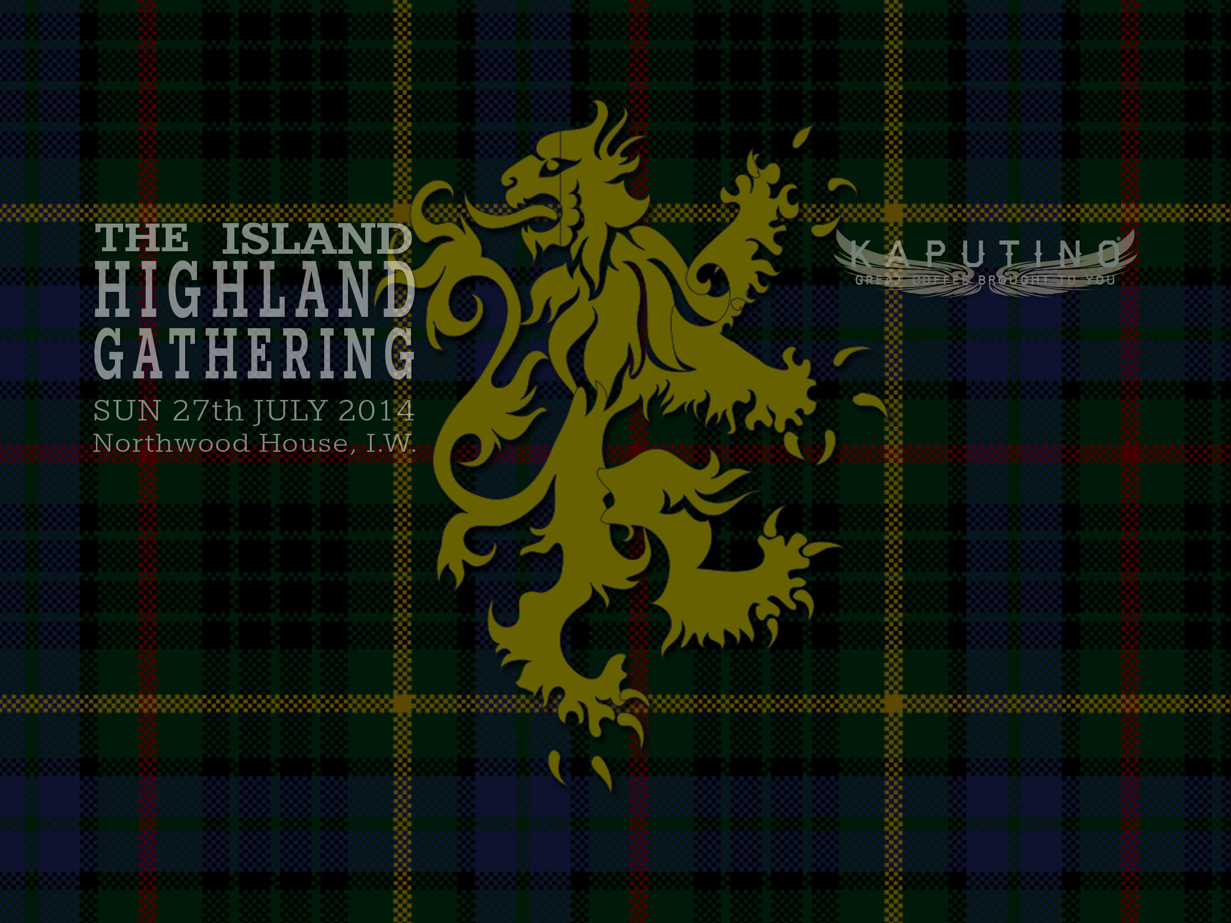 Island Highland Gathering 2014 with Kaputino coffee van
