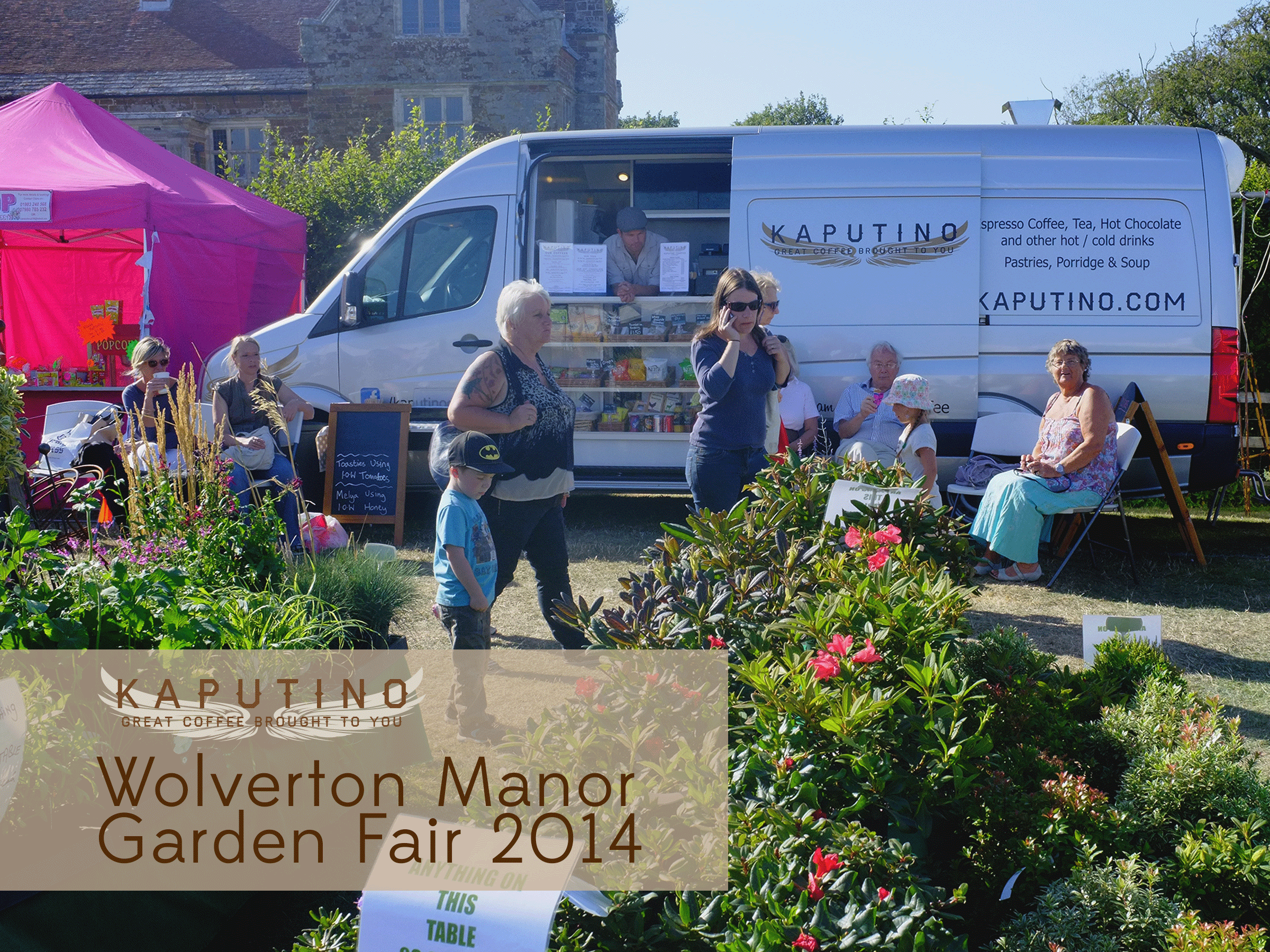 The Wolverton Manor Garden Fair 2014 with Kaputino® coffee van